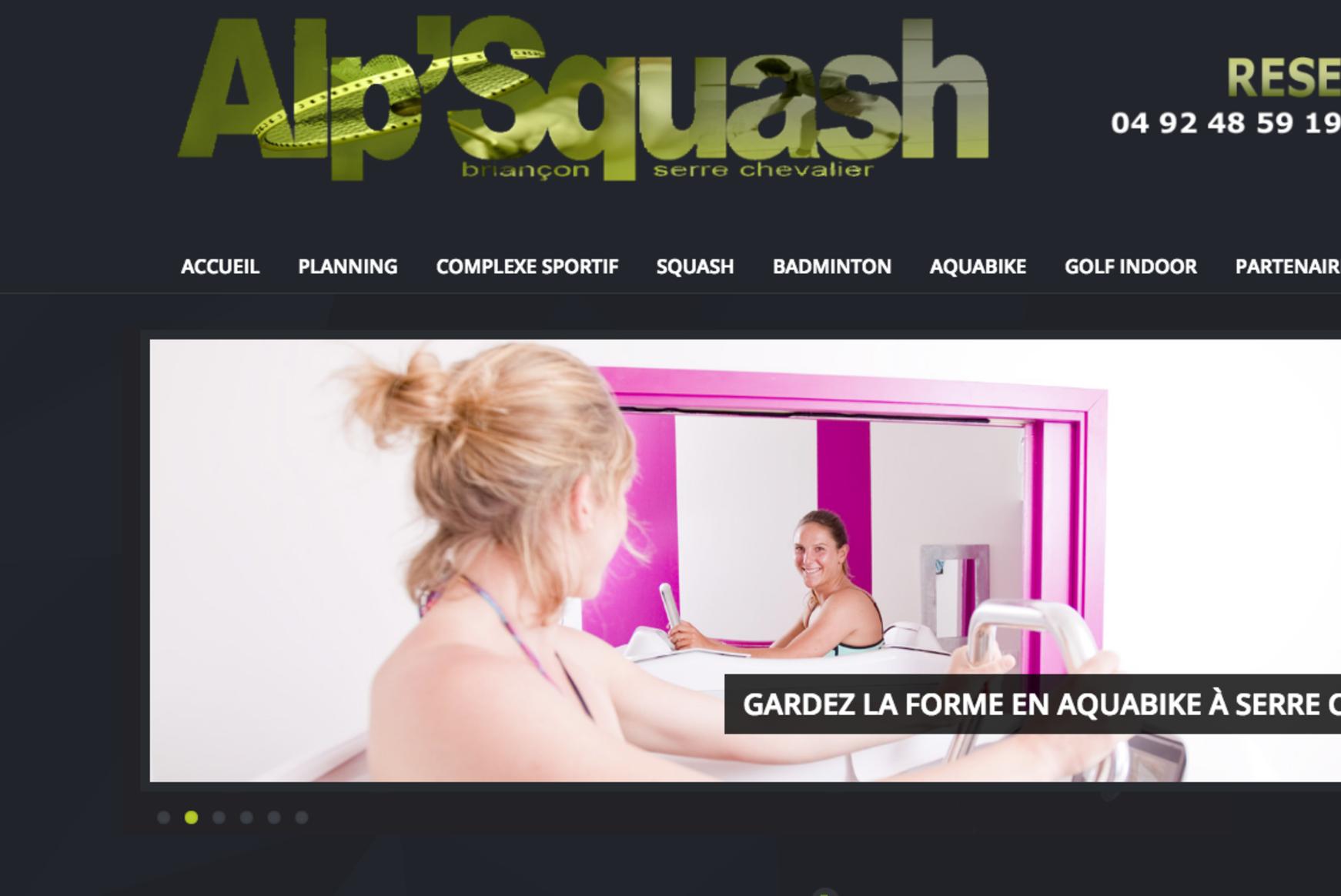 Alp'squash doté de la solution de réservation de Net-Rezo