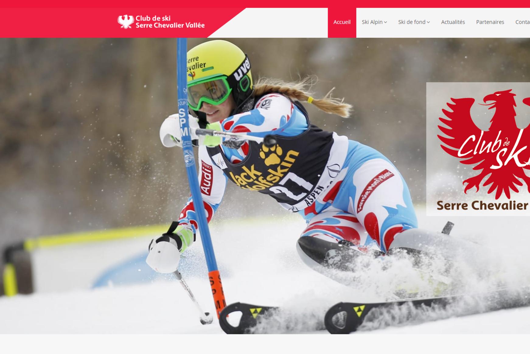 Le nouveau site responsive du club de ski de Serre Chevalier