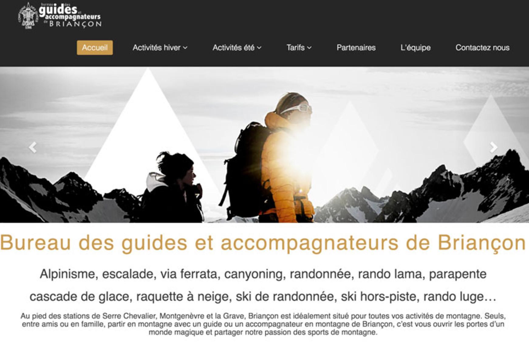 Le site du bureau des guides de Briancon